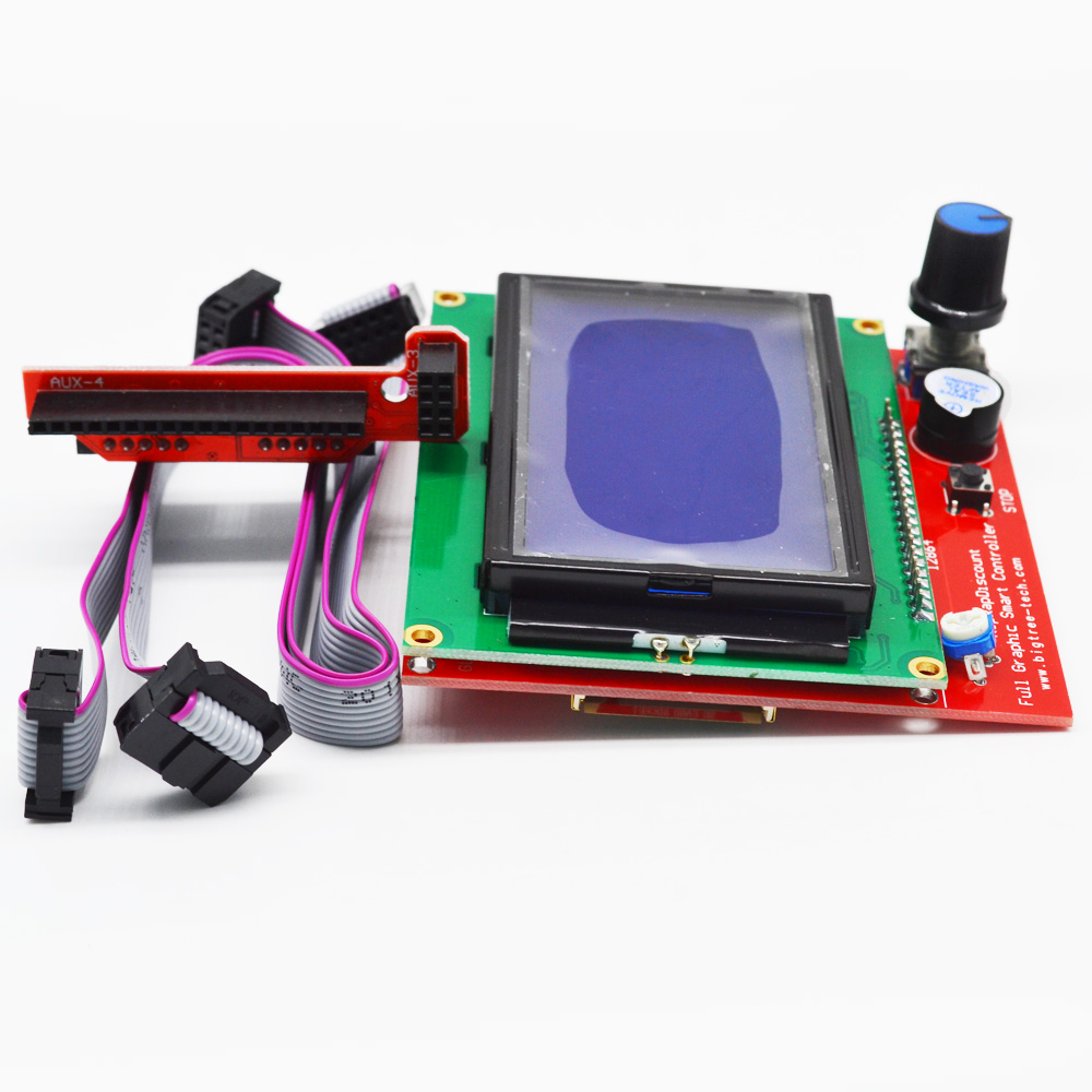 Reprap Smart Controller LCD 12864 Display Control Board for Ramps 1.4 with Adapter and Cable for Arduino 3D Printer Kit