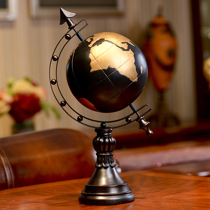 TOP 41cm créatif manuel artisanat Globe figure statue résine tellurion modèle ornements maison chambre décoration cadeau de haute qualité