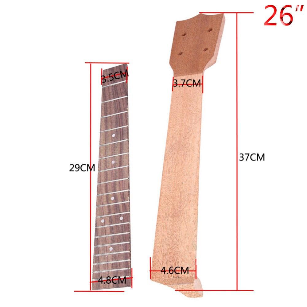 GSA04 ULTNICE Rosewood Ukulele 13 Fret Fretboard Fingerboard for 17 Inch 21 Inch Ukulele Soprano Ukulele Hawaii Guitar Accessory Replacement