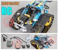 Motor Power Function RC TRACKED RACER CAR Electric fit legoings technic car 42065 speed car Building Block bricks Model kid gift