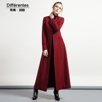 Long design autumn trench slim women's fashion outerwear red long sleeve plus size long coat spring Ladies trench