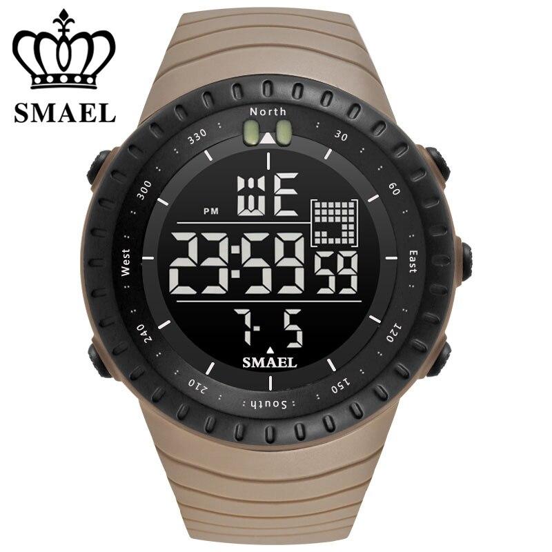 Uhren Unter Der Voraussetzung Smael Luxus Marke Mens Sports Uhren Dive 50 Mt Digital Led Military Watch Männer Mode Lässig Elektronik Armbanduhren Hot Clock Up-To-Date-Styling