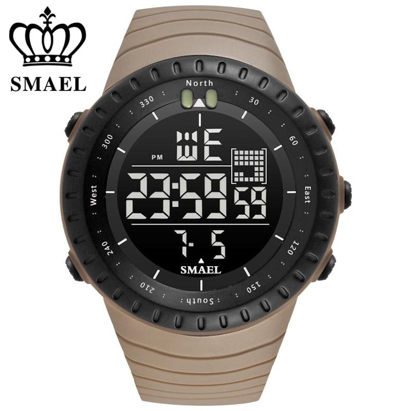 SMAEL Marque De Luxe Hommes Sport Montres de Plongée 50 m Numérique LED Militaire Montre Hommes Mode Casual Électronique Montres Hot Horloge