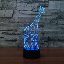 3D LED lamp Table Luminarias Lighting Flash giraffe Desk Lava decorative toy night light for child