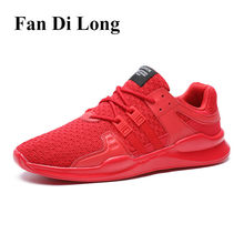 2017 Men Casual Shoes Fashion Sneakers Breathable Brand Male Shoes Large Size Men Flats Shoes Designer Trainers Red 45,46