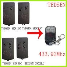 TEDSEN SKX1LC SKX2LC SKX3LC SKX4LC รีโมทคอนโทรล 433.92 MHz ประตูโรงรถประตู TEDSEN 433 MHz