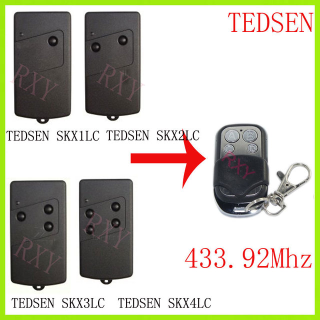 TEDSEN SKX1LC SKX2LC SKX3LC SKX4LC fernbedienung 433,92 Mhz tor garage tür TEDSEN 433mhz fernbedienung