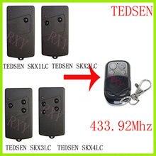 TEDSEN SKX1LC SKX2LC SKX3LC SKX4LC télécommande 433.92Mhz porte de garage TEDSEN 433mhz télécommande