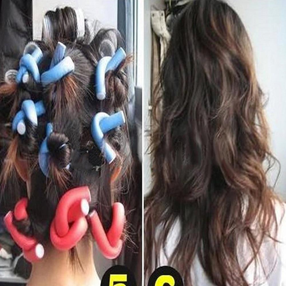 Online Shop 10pcs Set Curler Makers Soft Foam Bendy Twist Curls Diy