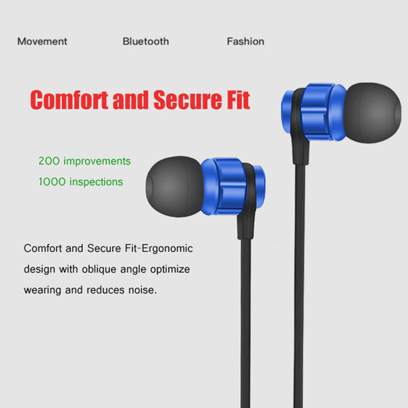 Bluetooth Headset Noise-cancellation Earbuds Neckband Sport Headphones Wireless Stereo Bluetooth Earphones for Sony Ericsson