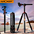 K&F CONCEPT Professional 180'foldable Camera Monopod To Tripod Lightweight with Ball Head+Carrying Bag for Canon Sony Nikon ...