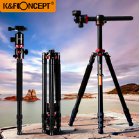 K&F CONCEPT Professional 180'foldable Camera Monopod To Tripod Lightweight with Ball Head+Carrying Bag for Canon Sony Nikon