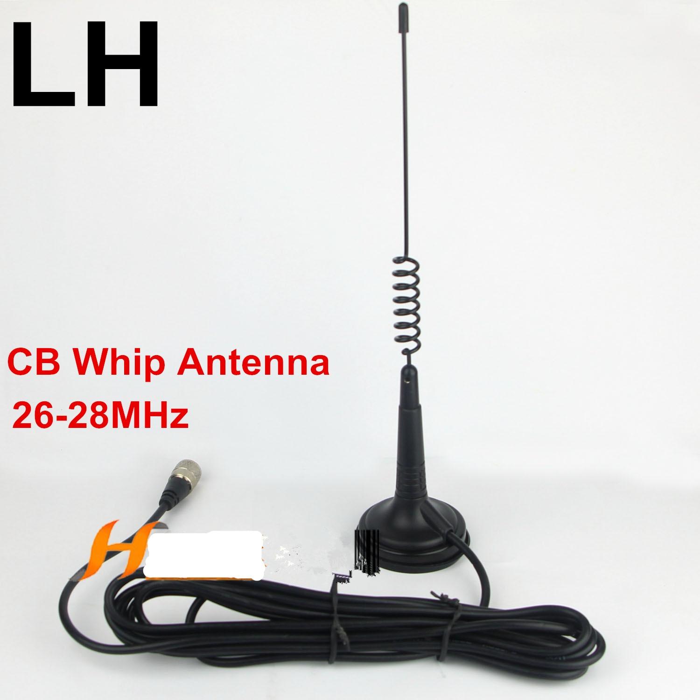 OSHINVOY CB radio whip antenna 26 28MHz CB 27MHz magnet mount antenna 26 28MHz car roof magnetic