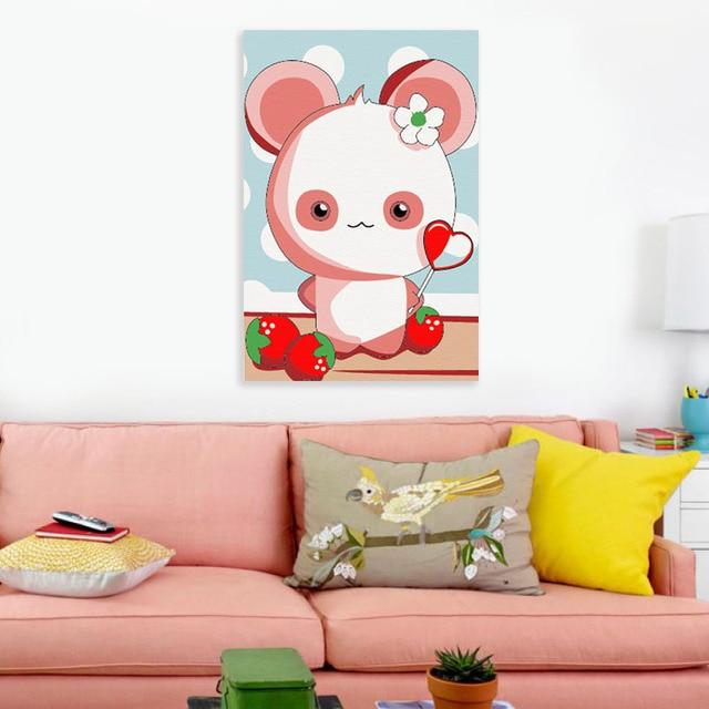 Mewarnai Dengan Angka Permen Beruang Digital Cat Dengan Angka Hadiah