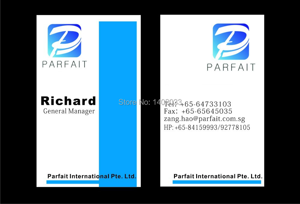 Free shipping customized name cards 500pcs/lot business cards 300gsm ...