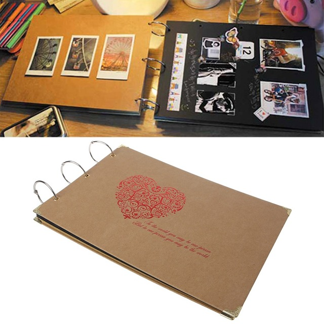 Aliexpress Com Buy Love Heart Diy Handmade Photo Album Bithday
