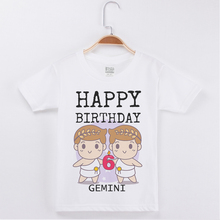 New Arrivals Birthday T-shirt For Girl Cartoon Printing Cotton Short Children Clothes Kids T Shirts Boys Clothing Girls Tops