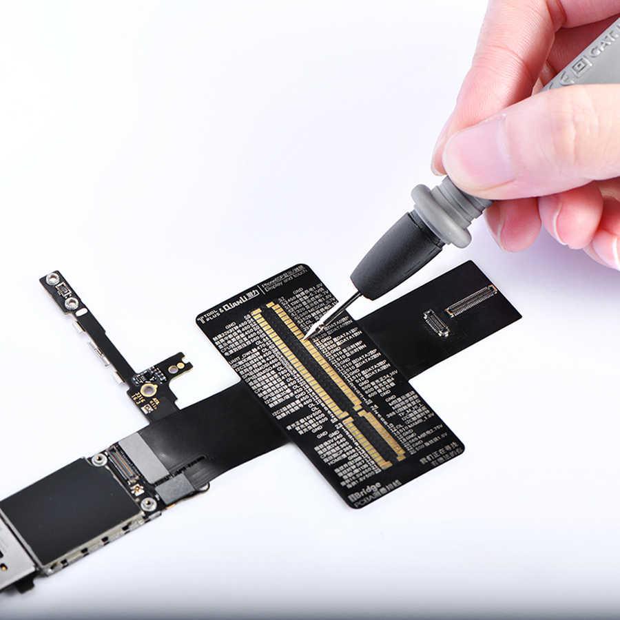 Qianli iBridge מדידת כבל עבור iPhone 6 6 P 6 S 6SP 7 7 P האם פין התנגדות מתח אות מבחן הארכת קו תיקון