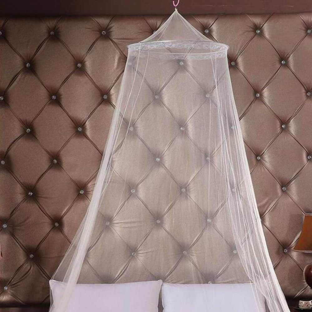 Universal Elegant Round Lace Insect Bed Canopy Netting Curtain Dome Polyester Bedding Mosquito Net Home Furniture Dropshipping