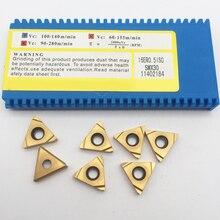 10 Chiếc 16ER 0.5 0.75 1.0 1.5 1.75 2.0 2.5 3.0 ISO SMX30 Carbide Lắp Cho Cùng Đường Chỉ May Dụng Cụ Xoay Nhàm Chán thanh Lưỡi Dao