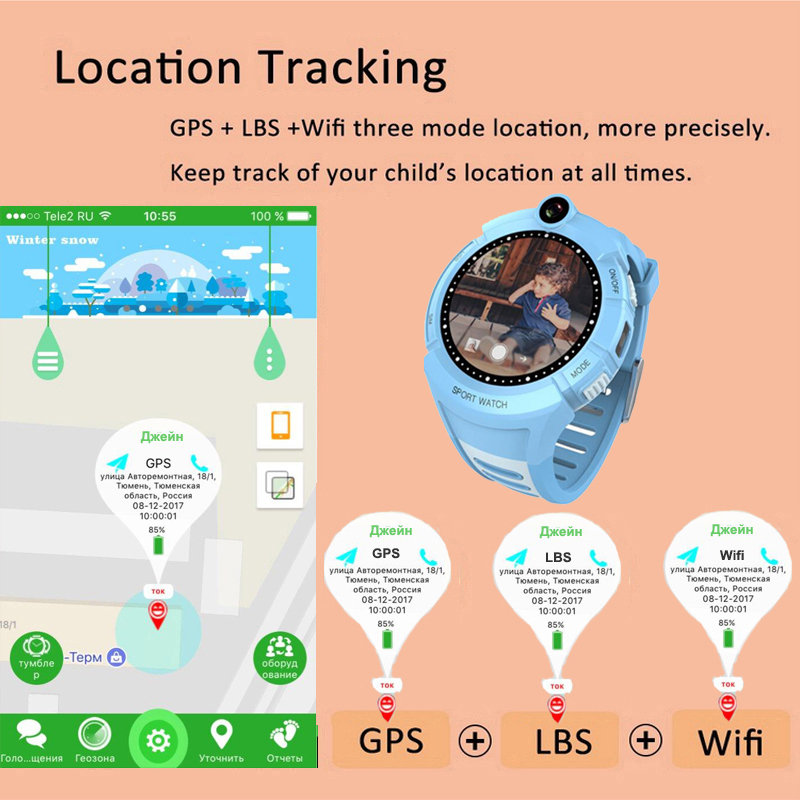 Image 2 - Q360 Kids Smart Watch with Camera GPS WIFI Location Child smartwatch SOS Anti Lost Monitor Tracker baby WristWatch-in Smart Watches from Consumer Electronics