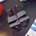 Descuentos de la Marca Plataforma de Zapatillas de Playa Sandalias de Los Hombres 2016 de Moda de Verano Para Hombre Zapatos Casuales Diapositivas Gran Tamaño 44 Plana Con Sandalias