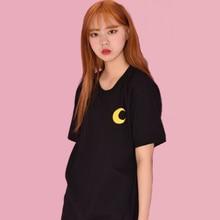 Harajuku Ulzzang Sailor Moon T Shirt Tops Women Sumemr 2019 Korean Loose Style Tees Schoolgirl Streetwear Tumblr