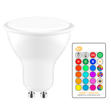 GU10 RGB светодиодный светильник 8 Вт ИК пульт дистанционного управления AC 85-265V атмосферное освещение 16 цветов Сменные декоративные огни