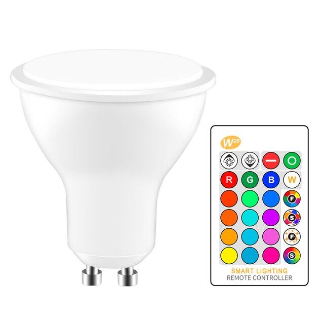 GU10 85 8 w IR Controle Remoto RGB Lâmpada LED AC-265 v Atmosfera Iluminação 16 Mutável Cor Decorativo luzes