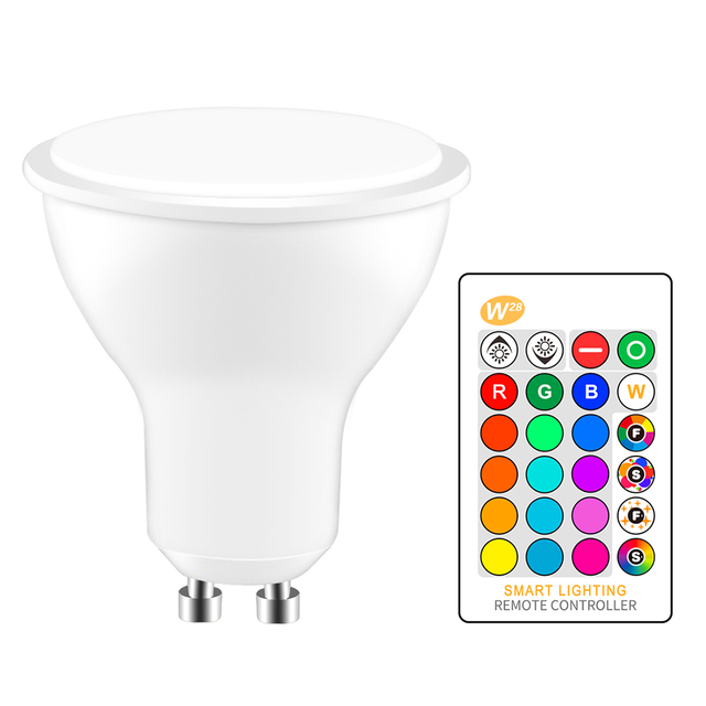 GU10 RGB LED Bulb 8W IR Remote Control AC 85 265V Atmosphere Lighting 16 Color Changeable Decorative Lights