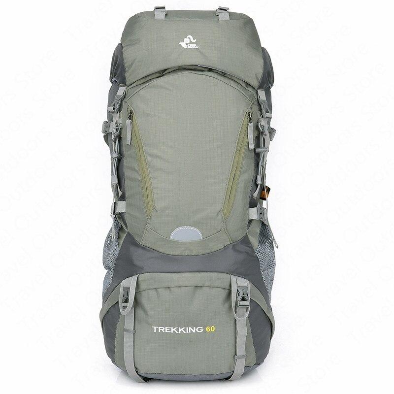 Sac d'escalade extérieur 60L haute qualité Camping étanche multifonctionnel Sport sac à dos cadre externe sac d'escalade grande capacité
