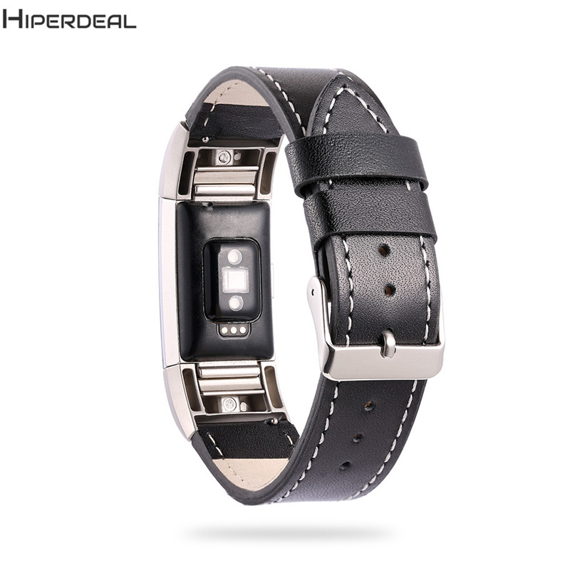 HIPERDEAL Replacement 115+75mm Leather Bracelet Watch Strap For Fitbit Charge 2 Smart Watch 2017 New Arrival OC11b