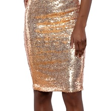 LORDLDS Sequin Skirt Women 2018 New Fashion High waist Gold Pencil Skirts  knee length Female Sexy 98dcf1c769bf