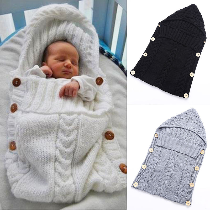 eb562740d102 Товар Swaddle Wrap Baby Blanket Newborn Infant Girls Boys Knit ...