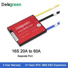 Deligreen 16 s 20A25A35A45A60A 48 В PCM/PCB/BMS для 3,7 В литиевая батарея 18650 Lithion LiNCM Li -полимерный скутер