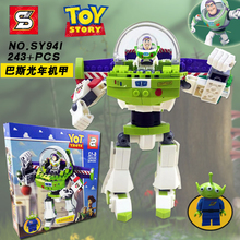 243pcs Super Heroes Story 3 Construct A Buzz Lightyear Mech Robots Sy941 Figure Building Blocks Toy  Compatible With Legoings
