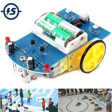 10pcs/lot D2 1 DIY Kit Intelligent Tracking Line Smart Car Kit Suite TT Motor Electronic Production Smart Patrol Automobile Part