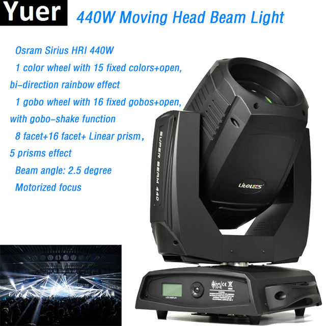 Moving Head Beam Light Sharpy 20R O-sram Sirius HRI 440W with prisms motorized focus 20 Channels dmx512 Clay Paky disco DJ light