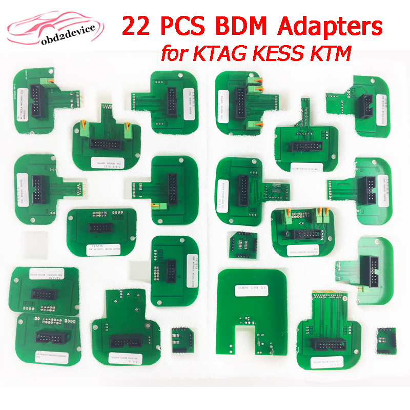 22 PCS BDM Adapters For KTAG KESS V2 KTM BDM Probe Pens And LED BDM Frame 22pcs Adaptor ECU Programmer Turning Tool