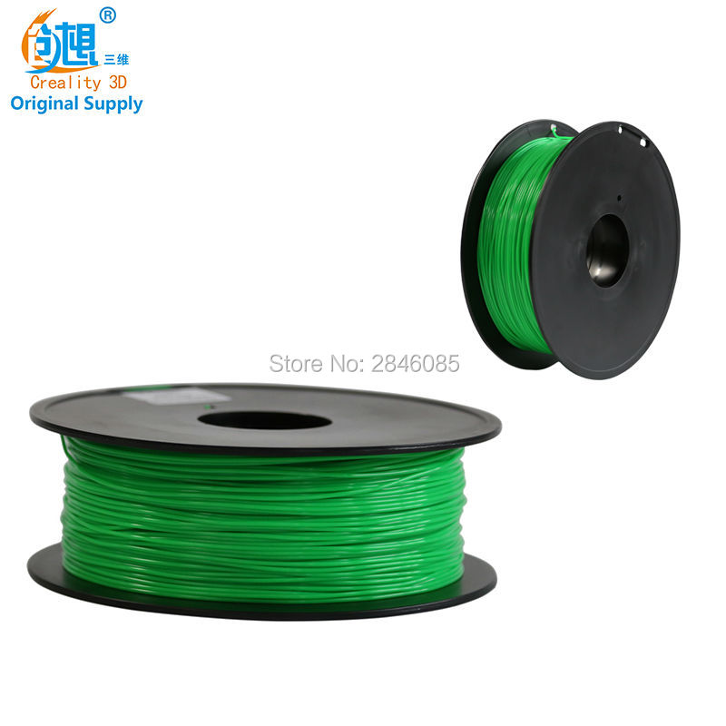 CREALITY 3D Green 3D Printer TPU Filament Samples 1KG/roll 1.75mm for 3D Printer /3D Pen/Reprap/Makerbot abs original anet 3d filament plastic for 3d printer and 3d pen many colors 1kg 340 m abs express shipping from moscow