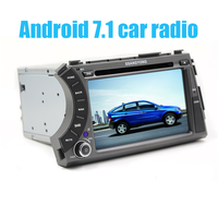 7 2 din Android 8.1 car dvd gps quad core stereo for ssangyong Kyron Actyon 4G Wifi BT support dvr OBD2 1024x600,russian