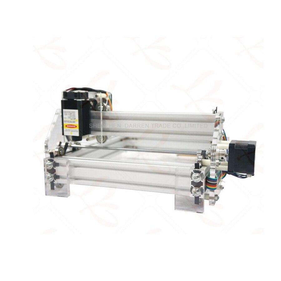 1 шт. 1,5 Вт DIY мини лазерная гравировальная машина 1500 МВт Настольный DIY Лазерный гравер гравировальный станок изображение CNC принтер - 3