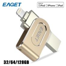 Eaget USB Flash Drive 32GB USB three.zero Flah Disk Steel Pendrive USB Flash Reminiscence Stick 128GB Encryption Pen Drive 64GB For Iphone PC