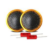 2pcs High Class Universal 120W 25mm Dome Car Tweeter Loudspeaker Auto Transparent silk film Aluminum shell Treble Loud Speaker