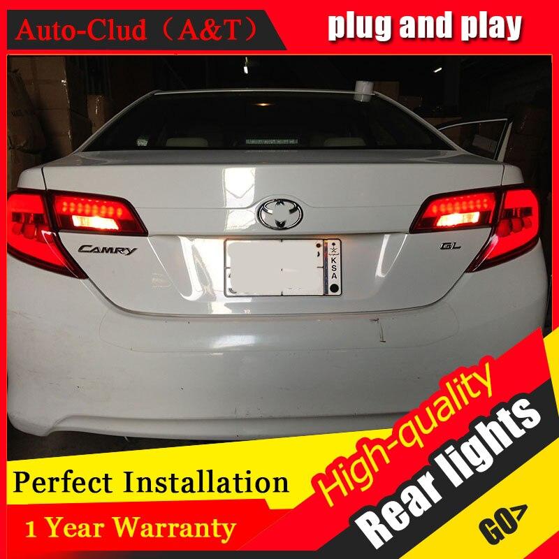 Auto Clud style de voiture pour Toyota Camry feux arrière 2012 Camry feu arrière LED Aurion feu arrière DRL + frein + parc + feux de LED de Signal