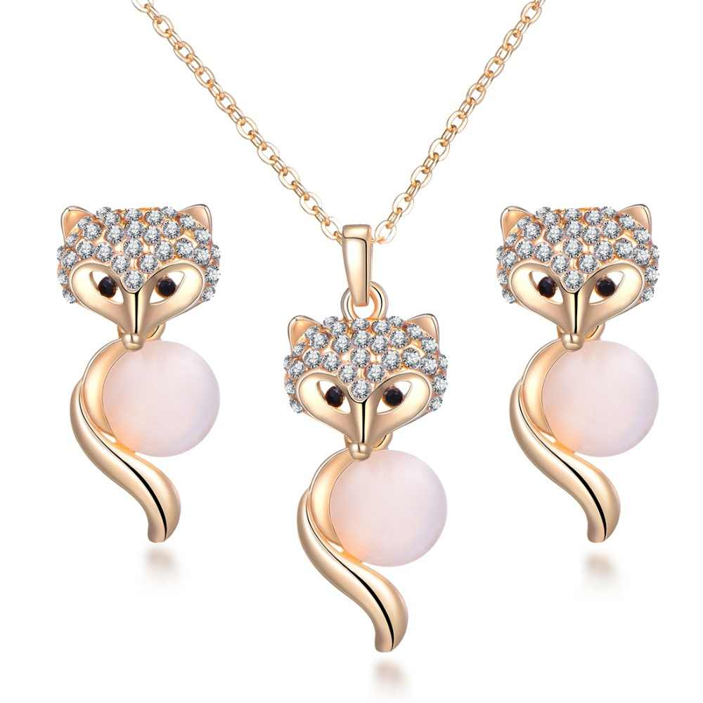 2018 new Pearl Bridal Jewelry Sets Parure Bijoux Femme Pink Natural Stone Opal Tulip Flowers Jewelry Wedding Jewelry Sets