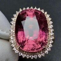 18 karat gold edelstein ring luxus hand schmuck für dame heißer verkauf MEDBOO 14,68 ct natürlichen roten turmalin engagemen ring hochzeit ring