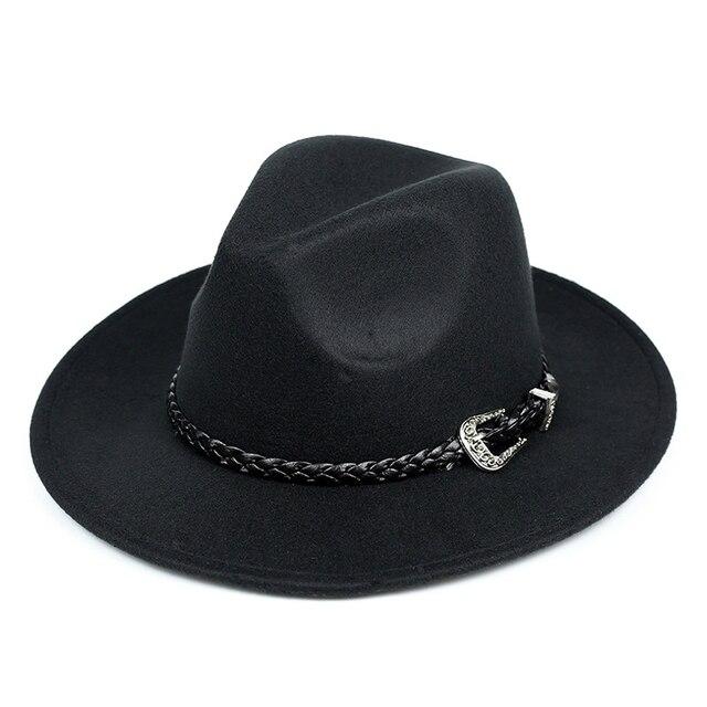 Новая мода большой шляпе Ковбойской шляпе осенью и зимой на открытом воздухе шерстяные шляпы
