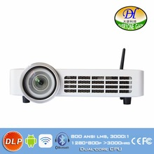 3D Smart Projector with BT WiFi DLP tech Proyector Ultra focus Beamer DH-A100W