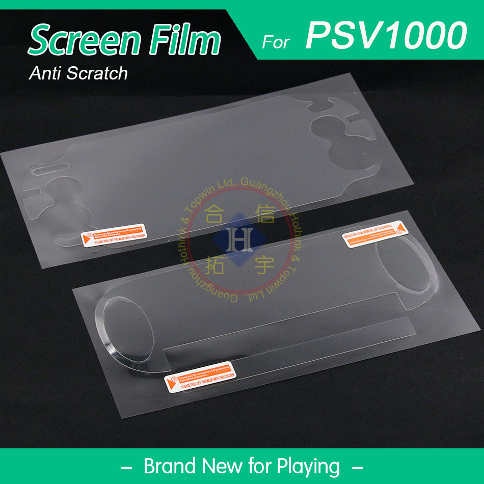 HOTHINK (2 sets/lot) LCD Screen and Bottom Cover Anti Scratch Protector Film for PSVita 1000 PSV PS Vita 1000 2 sets lot